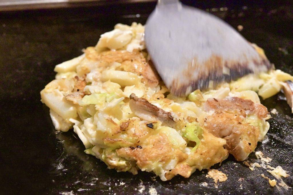 かっぱ祭り お好み焼き 鶏玉天